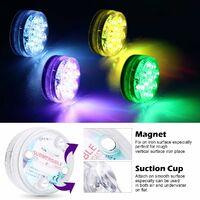 Lumière LED Submersible, Éclairage IP68 Lampes Sous-Marines Multi-couleur avec Télécommande, Lumières de Baignoire Étanche, pour Aquarium Baignoire Piscine Jardin Milieu Aquatique(1 PCS)