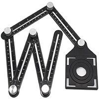 Outil de mesure d'angle en alliage d'aluminium à six faces-règle d'angle universelle-localisateur d'ouverture universel-mise à niveau de la règle en alliage d'aluminium-outil de mesure multi-angle tout en métal (six côtés)