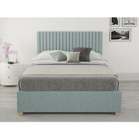 Grant Ottoman Upholstered Bed, Malham Weave, Sky - Ottoman Bed Size Double (135x190)