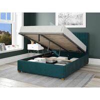 Grant Ottoman Upholstered Bed, Plush Velvet, Emerald - Ottoman Bed Size Double (135x190)