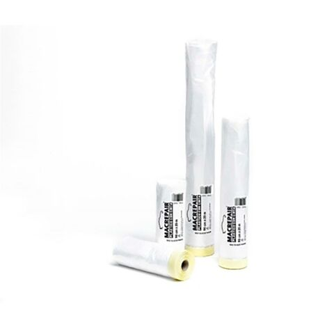 Plastico Protector Con Cinta Krepp 35 Cm X 22,5 Mt Macrepair