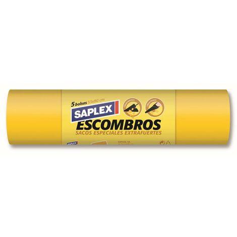 Saco Escombro 55X80Cm 5 Pz Polipropileno Blanco Saplex