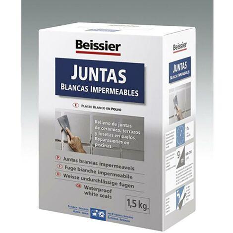 Cemento Impermeabilizante Juntas Polvo Blanco Beissier