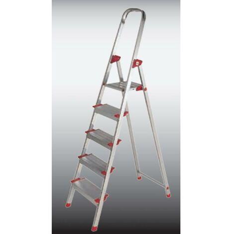 Escalera Domestica 7 Peldaños 1,45Mt Aluminio New Plus Ktl