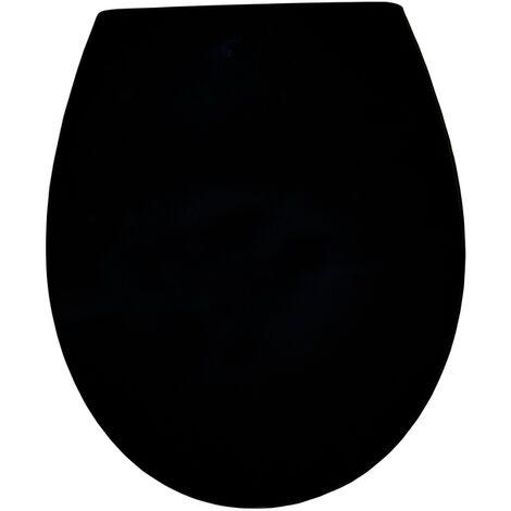 Abattant WC AquAzuro - Noir Duroplast Softclose