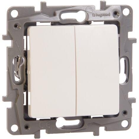 Interrupteur deux directions double niloé Legrand - Blanc