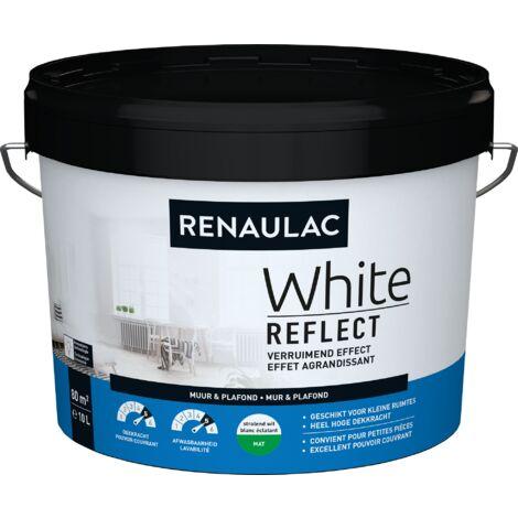 Peinture Murale Renaulac White Reflect Blanc Mat - 10L