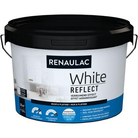 Peinture Murale Renaulac White Reflect Blanc Satiné - 2,5L