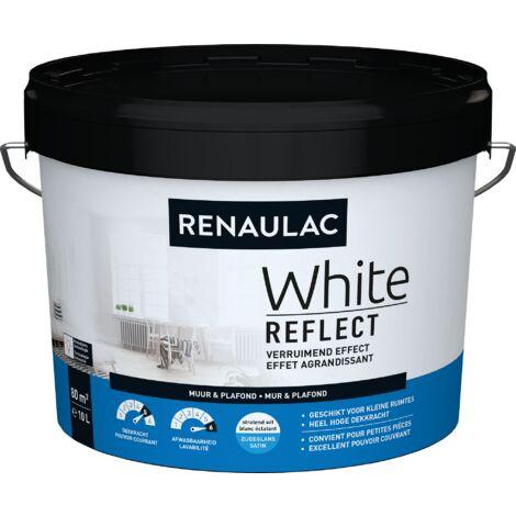 Renaulac Peinture Murale White Reflect Satin Blanc - 10L