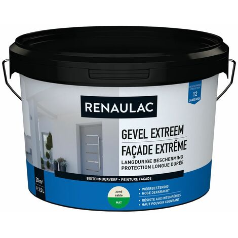 Renaulac Peinture façade Extrême sable - 2,5L