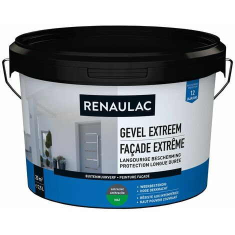 Renaulac Peinture façade Extrême Anthracite - 2,5L