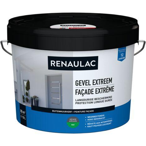 Renaulac Peinture façade Extrême Anthracite - 10L
