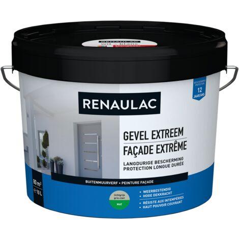 Renaulac Peinture façade Extrême Gris Clair - 10L