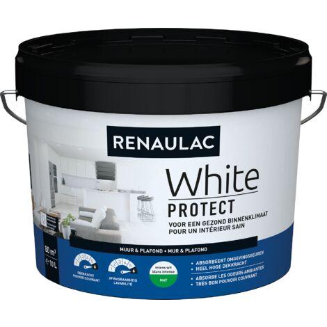Renaulac Peinture Murale White Protect Mat Blanc - 10L