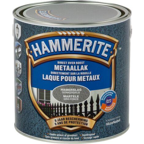 Laque métaux Hammerite martelé Gris foncé - 2,5L