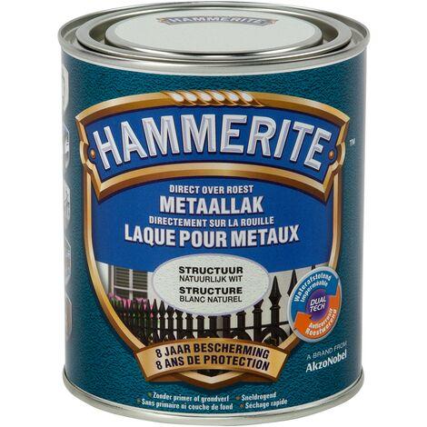 Laque métaux Hammerite structuré Mate Blanc naturel - 750ml