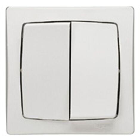 Oteo interrupteur deux directions double Legrand - Blanc