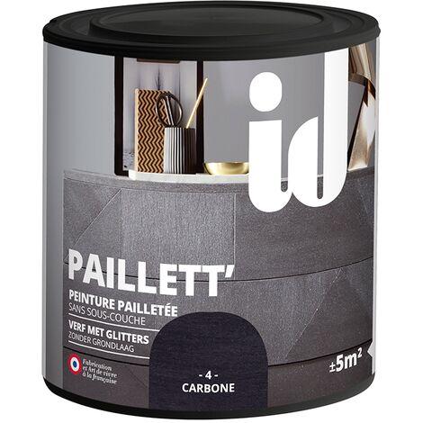 Peinture pailletée pour meuble ID 'Paillett' carbone - 500ml