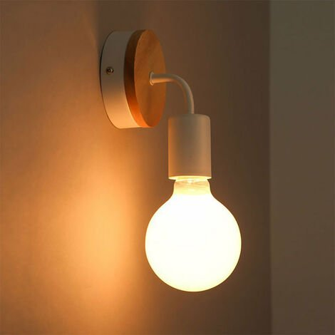 Modern Wall Light Simple Wall Sconce White Indoor Wall Lamp Contemporary Style Wall Lamp E27 (2pcs)