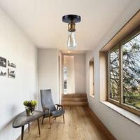 2pcs Vintage Chandelier Retro Ceiling Light E27 Simple Industrial Ceiling Lamp for Living Room Bedroom Hallway