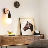 Modern Wall Light Simple Wall Sconce Black Indoor Wall Lamp Contemporary Style Wall Lamp E27 (2pcs)