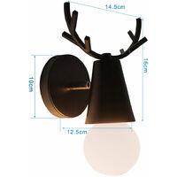 Modern Wall Light Creative Antler Wall Lamp Black Contemporary Style Wall Light Christmas Deer Wall Sconce Retro Wall Lamp