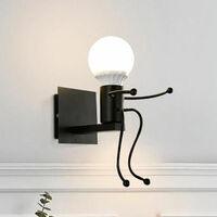 Modern Wall Light Creative Wall Lamp Human Shape Wall Light Black