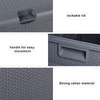 Outdoor Plastic Storage Box, Garden 120gal 460L Storage Resin Deck Bench Box Furniture Lockable Waterproof (Grey)