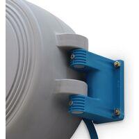 Dévidoir 15m mural. rallonge tuyau d'air comprimé pour compresseur. enrouleur automatique. raccords fournis