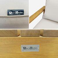 Salon de jardin en bois 5 places - Mendoza - Canapé. fauteuils et table basse en acacia. 6 éléments modulables. design Bois / Beige