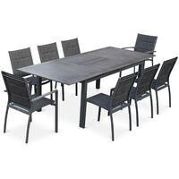 Table de jardin en aluminium et céramique - Gris - 104150