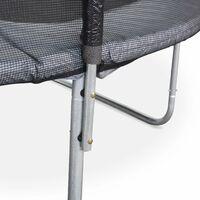 Trampoline rond Ø 305cm gris avec son filet de protection - Mars - Trampoline de jardin 3m 300 cm | Qualité PRO.| Normes EU.