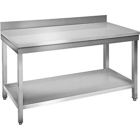 Table à plancha tout inox  2 plateaux 120 cm