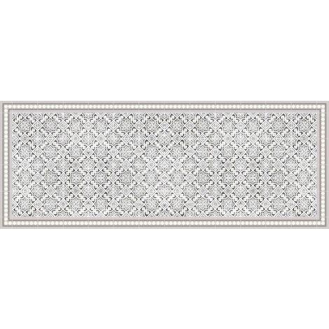 Tapis intérieur extérieur en vinyle carreaux marocains 70x180 cm