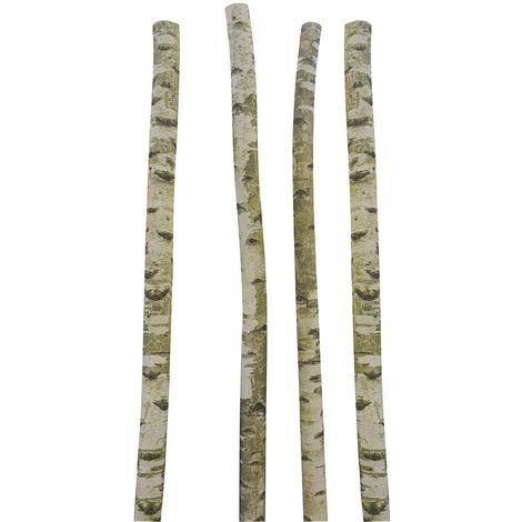 Tronc de bouleau décoratif 250cm Lot de 4