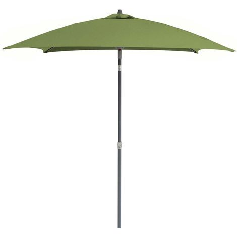 Parasol inclinable carré aluminium 2 x 2 m Olive - Olive