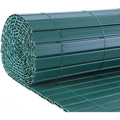 Canisse en PVC vert double face qualité + 1.20 x 2.5 m - Vert