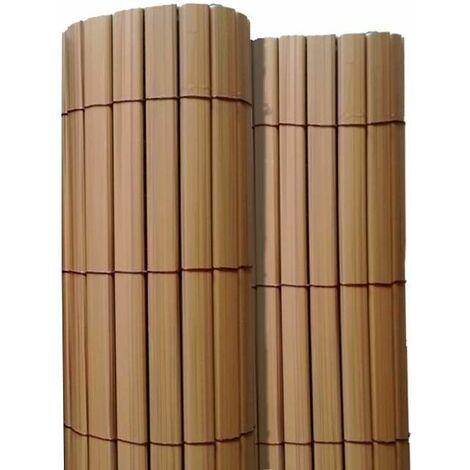 Canisse en PVC effet teck double face qualité + 1.20 x 2.5 m - Teck
