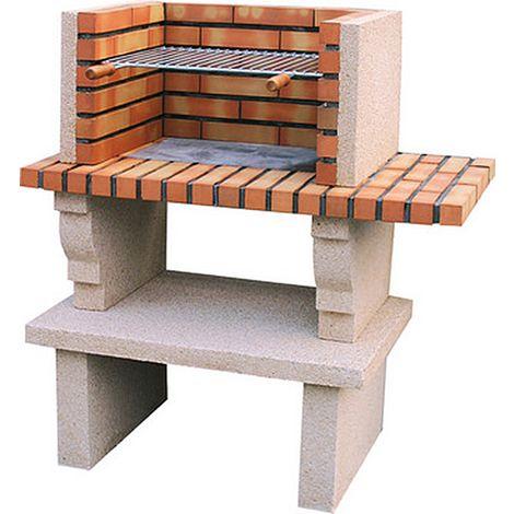 Barbecue en pierre reconstituée et brique Cartaxo - Pierre blanche