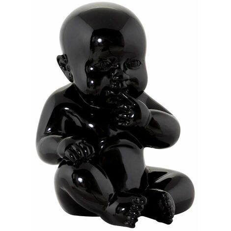 Statue design bébé Sweety noir - Noir