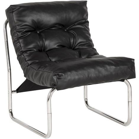Fauteuil lounge Boudoir noir - Noir