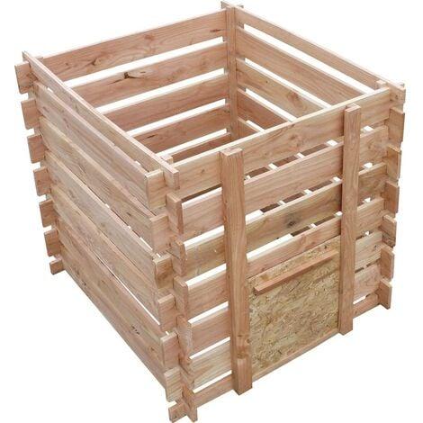 Composteur en bois de douglas naturel 700 litres