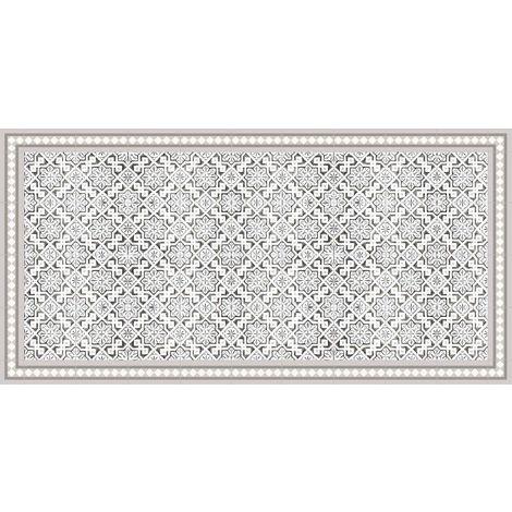 Tapis intérieur extérieur en vinyle carreaux marocains 70 x 140 cm