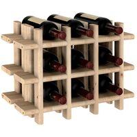 Casier à bouteilles en pin massif brut 9 bouteilles