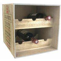 Cave à vin en bois 6 bouteilles Bistrot Le caviste