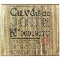 Cave à vin en bois 6 bouteilles Bistrot Cuvée du jour