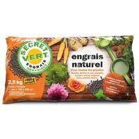 Engrais naturel bio pour toutes les plantes 2,5 kg + 500 g offerts