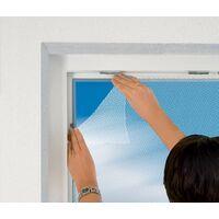 Moustiquaire fenêtre blanc 28g/m² bande auto-agrippante 9,5 mm max 110x130 cm - Blanc