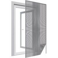 Moustiquaire porte anthracite 18g/m² bande auto-agrippante 7,5 mm - Anthracite