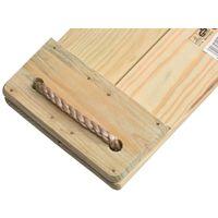 Balançoire en Pin traité avec Cordes en Chanvre synthétique 44x17,5cm